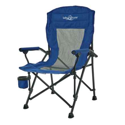 Lucky Bums Youth Folding Arm Chair - Medium in Navy - Closeouts