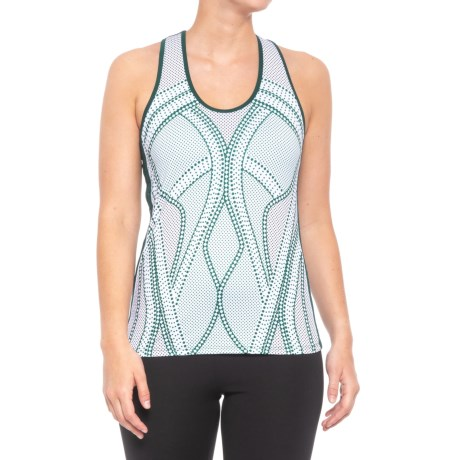 Lucky in Love Green with Envy Racerback Tank Top - UPF 30+ (For Women) in Green