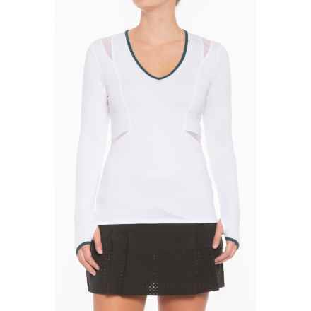 Lucky in Love Green with Envy Shirt - UPF 30+, Long Sleeve (For Women) in White - Closeouts