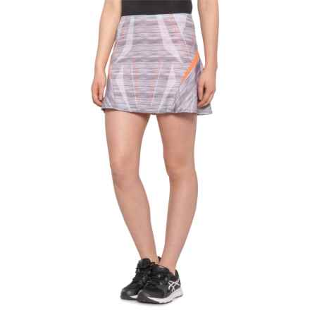 Lucky in Love Long Spaced Out Skort - UPF 30+ (For Women) in Charcoal - Closeouts
