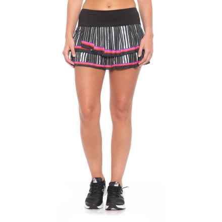 Lucky in Love Outside the Lines Turn it Up Skort - UPF 30+ (For Women) in Black - Closeouts