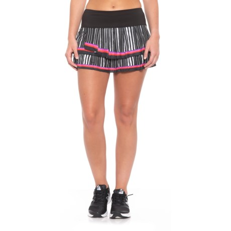 Lucky in Love Outside the Lines Turn it Up Skort - UPF 30+ (For Women) in Black