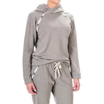 Lucky Sleepwear Embroidered Hoodie (For Women) in Grey - Closeouts