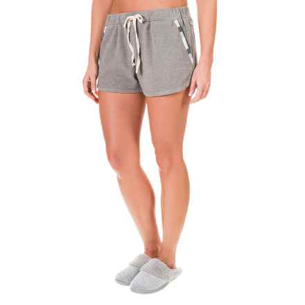 Lucky Sleepwear Embroidered Lounge Shorts (For Women) in Grey - Closeouts