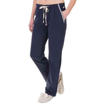 Lucky Sleepwear Embroidered Pajama Pants (For Women) in Navy - Closeouts