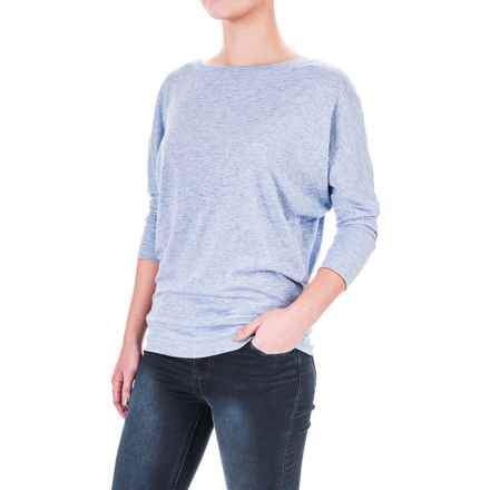 Lucy & Laurel Dolman Shirt - 3/4 Sleeve (For Women) in Medium Blue Heather - Overstock