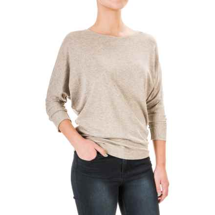 Lucy & Laurel Dolman Shirt - 3/4 Sleeve (For Women) in Medium Oatmeal Heather - Overstock