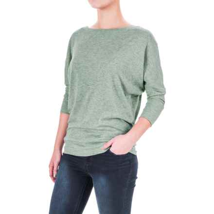 Lucy & Laurel Dolman Shirt - 3/4 Sleeve (For Women) in Seafoam Heather - Overstock