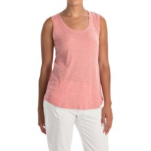 Lucy & Laurel Slub Tank Top - Cotton-Modal (For Women) in Light Red Heather - Closeouts