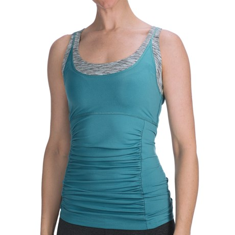 lucy Core Method Tank Top (For Women) in Larkskspur
