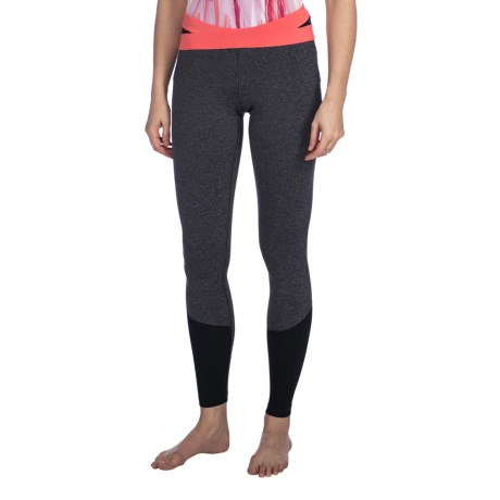 lucy Divine Power Leggings (For Women) in Asphalt/Heather/Dubarry