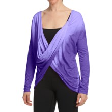 lucy Duo Shirt - Cotton-Modal, Long Sleeve (For Women) in Violeletta - Closeouts