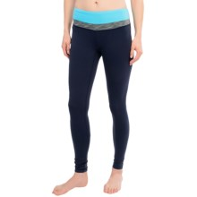 lucy Hatha Leggings (For Women) in Lucy Navy/Bluefish - Closeouts