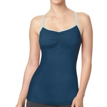 Lucy Heart Center Tank Top - Buit-In Bra (For Women) in Poseidon - Closeouts