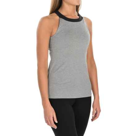 lucy Inner Light Tank Top - Built-In Bra (For Women) in Silver Filigree Heather - Closeouts