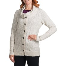 lucy Joyful Sweater Jacket (For Women) in Pristine Heather - Closeouts