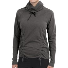 lucy Lean and Mean Shirt - Cowl Neck, Long Sleeve (For Women) in Asphalt Heather - Closeouts