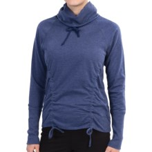 lucy Lean and Mean Shirt - Cowl Neck, Long Sleeve (For Women) in Ultramarine Heather - Closeouts