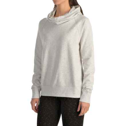 lucy Lift It Up Pullover Shirt - Long Sleeve (For Women) in Dove Grey Heather - Closeouts