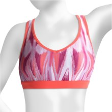 lucy Novelty Race Me Bra - Racerback (For Women) in Fuchsia Ikat Print - Closeouts
