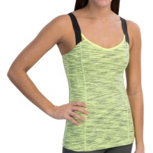 lucy Perfect Pose Tank Top (For Women) in Light Key Lime Neon Spacedye Stripe - Closeouts