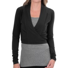 lucy Perfect Pose Wrap - Long Sleeve (For Women) in Lucy Black - Closeouts