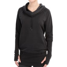 lucy Power Pose Shirt - Cowl Neck, Long Sleeve (For Women) in Lucy Black - Closeouts