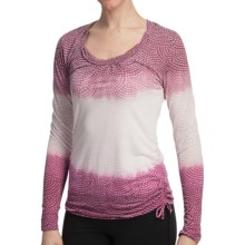 lucy Pranayama Burnout Shirt - Long Sleeve (For Women) in Beet Red Nouveau Print - Closeouts
