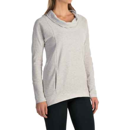 lucy Savasana Cowl Neck Shirt - Long Sleeve (For Women) in Dove Grey Heather - Closeouts