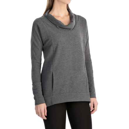 lucy Savasana Cowl Neck Shirt - Long Sleeve (For Women) in Fossil Heather - Closeouts