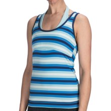 lucy Spin Fusion Tank Top - Built-In Bra (For Women) in Aster Blue Stripe - Closeouts