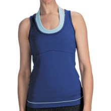 lucy Spin Fusion Tank Top - Built-In Bra (For Women) in Sodalite Blue - Closeouts