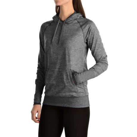 lucy Sweat It Out Hoodie (For Women) in Asphalt Heather