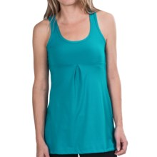lucy Zen Seeker Tunic Shirt - Sleeveless (For Women) in Arabian Sea Heather - Closeouts