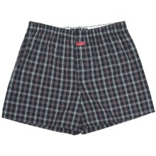 Luk Cotton Plaid Boxers (For Men) in Black/Red/White - Closeouts
