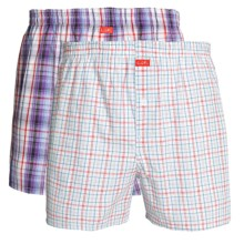 Luk Woven Plaid Boxers - 2-Pack (For Men) in Purple/Red/Blue - Closeouts
