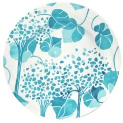 Lulu DK Hydrangea Porcelain Dinner Plates - Set of 4 in Blue