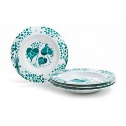 Lulu DK Hydrangea Porcelain Soup Bowls - Set of 4 in Blue