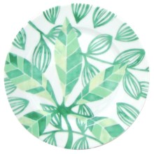 Lulu DK Leaf Porcelain Salad Plates - Set of 4 in Green - Closeouts