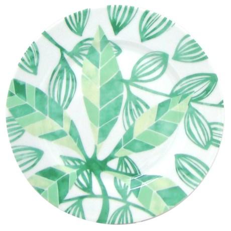 Lulu DK Leaf Porcelain Salad Plates - Set of 4 in Green