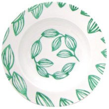 Lulu DK Leaf Porcelain Soup Bowls - Set of 4 in Green - Closeouts