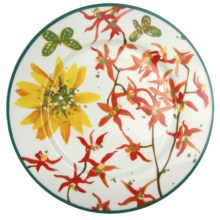 Lulu DK Petals Porcelain Dinner Plates - Set of 4 in Multi - Closeouts