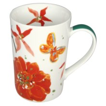 Lulu DK Petals Porcelain Mugs - Set of 4 in Multi - Closeouts