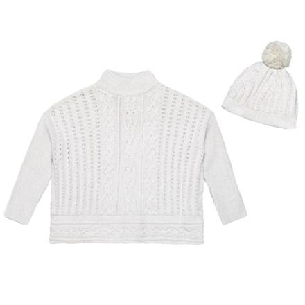 e455897594 LULURAIN Fringed Cape Sweater (For Big Girls) in Cream - Closeouts