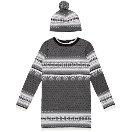 fcaf2fa0ac LULURAIN Jacquard Sweater Dress and Hat Set - Long Sleeve (For Big Girls) in