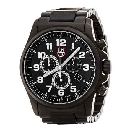 Luminox Atacama Field Chronograph Watch - Alarm, Metal Band (For Men) in Black/Brown - Closeouts
