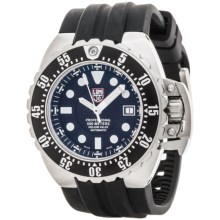 Luminox Deep Dive Automatic 1500 Series Watch - Rubber Strap (For Men) in Black/Silver/Black - Closeouts