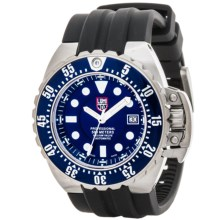 Luminox Deep Dive Automatic 1500 Series Watch - Rubber Strap (For Men) in Blue/Silver/Black - Closeouts