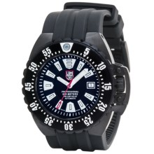 Luminox Deep Dive Watch - Rubber Strap (For Men) in Black/White/Black - Closeouts