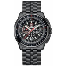 Luminox F-22 Raptor 9270 Chronograph Watch - Titanium PVD Bracelet (For Men) in Black/Black - Closeouts